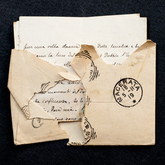old envelope and letter