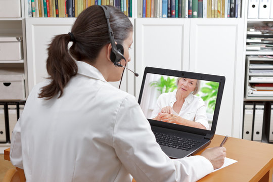 doctor video call patient mole