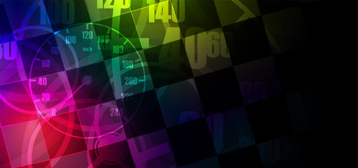 Racing square background, vector illustration abstraction in car track