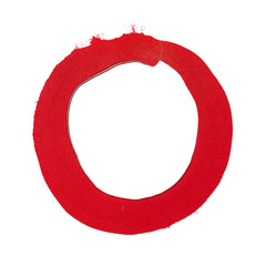 a painted simple red circle background