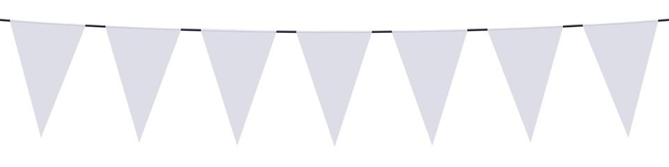 Bannière. Guirlande, fanions blancs