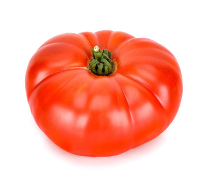 Heirloom tomato isolated on the white background