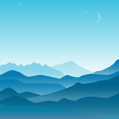 Vector landscape illustration in flat design