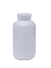 White plastic bottle isolated on white background