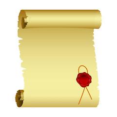 Parchment vector design illustration