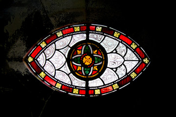 Stained glass inside the Holy Trinity, Christ Church