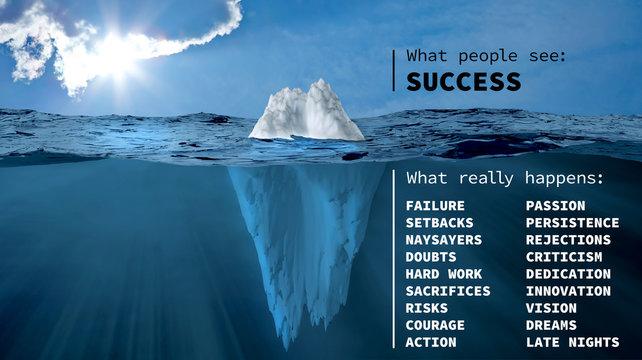 The iceberg of success