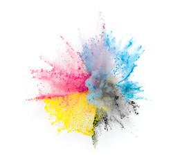 CMYK Toner Farbe Explosion