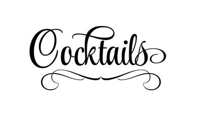 Cocktails - Schriftzug