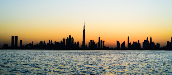 Keuken foto achterwand Dubai Panoramic view of Dubai at sunset