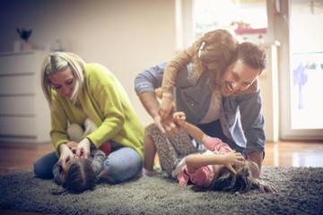 Cheerfully family.
