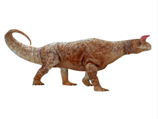 Shringasaurus Dinosaur Side Profile - Shringasaurus was a herbivorous sauropod dinosaur that lived in India in the Triassic Period.