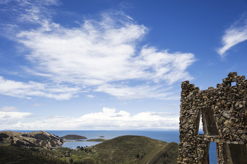 Isla del Sol on lake Titicaca in Bolivia