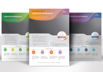Flyer Layout with Gradient Header