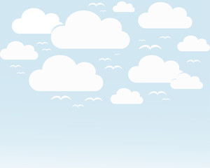 Background the sky with clouds