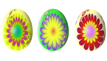 Abstract fractal pattern. Easter egg. Illustration