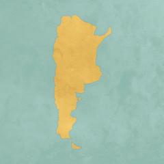 Carte texturée de l'Argentine