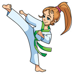 Karate Kick Girl