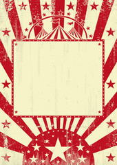 Circus red grunge background
