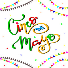 Cinco de mayo mexican fiesta holiday poster