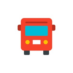 bus, public transportation flat vector icon. Modern simple isolated sign. Pixel perfect vector  illustration for logo, website, mobile app and other designs