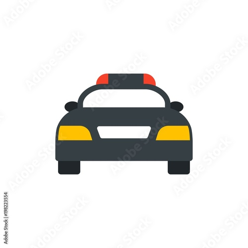 Police Car Website >> Police Car Flat Vector Icon Modern Simple Isolated Sign