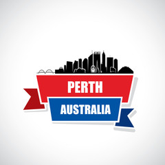 Perth skyline - Australia - ribbon banner