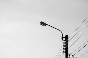 Modern street lamp - monochrome Fotomurales