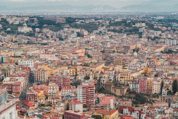 Panorama Blick über die Stadt Neapel