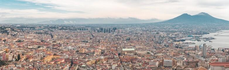 Panorama Blick über die Stadt Neapel und Vesuv