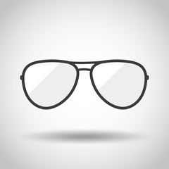 Image of  glasses on a gray background. Linear design