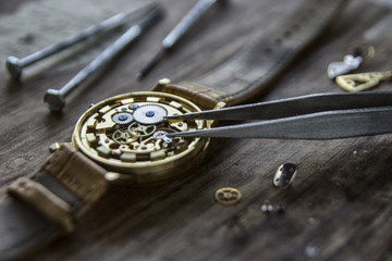 Watchmaker's workshop, watch repair