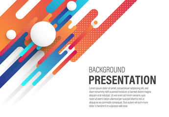 Presentation Background with Rounded Diagonal Design Elements