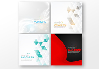 4 Abstract Background Social Media Post Layouts