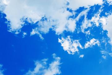 Blue sky with pure cloud as background
