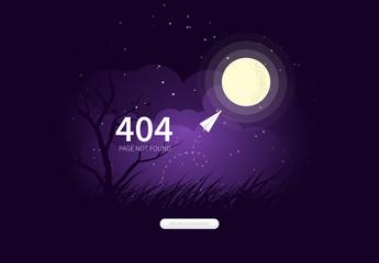 404 Page Not Found Internet Error Website Layout