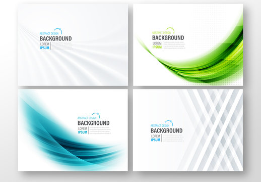 4 Abstract Background Presentation Layouts