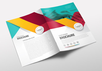 Colorful Business Brochure Cover Layout