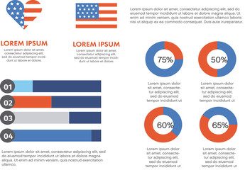 America-Themed Infographic Layout