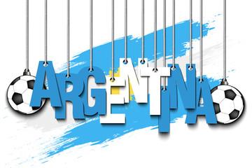 Banner the inscription Argentina