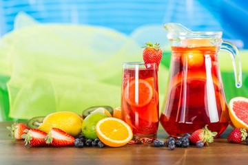 Refreshing fruits juice with Fruits