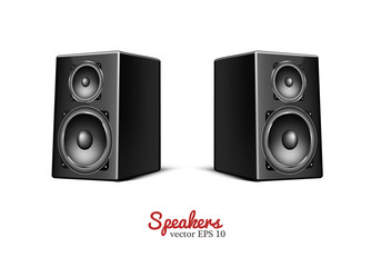 Vector sound speaker, loudspeaker icon