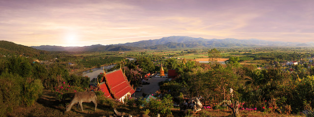 Nice view of the countryside in northern thailand
