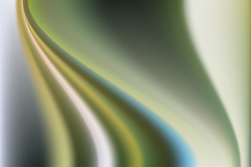 Abstract blurry background in green tones made of soft waves of color.