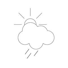 Weather forecast icon. Vector illustration for your design.