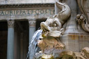 Foto op Aluminium Fontaine Fontaine du Panthéon à Rome, Italie