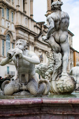Fontana Del Moro sur la Piazza Navona à Rome, Italie