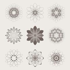 Mandala. Geometric circular ornament set. Round Ornament Pattern. Vintage decorative elements. Ethnic, Indian, Islamic, Asian, ottoman, Arabic motifs. Vector illustration.