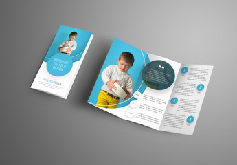 4 Trifold Brochures with Circular Elements
