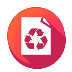 Fototapeta ikona z długim cieniem na tle okręgu